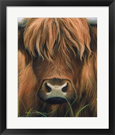 Framed Cow Portrait Print