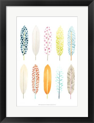 Framed Feather Patterns II Print