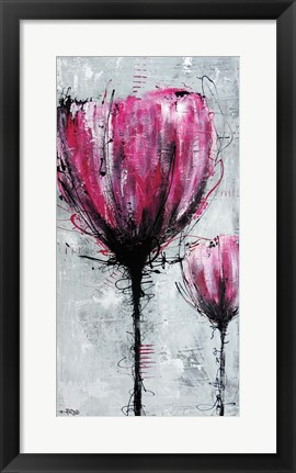 Framed Purple Flower Print