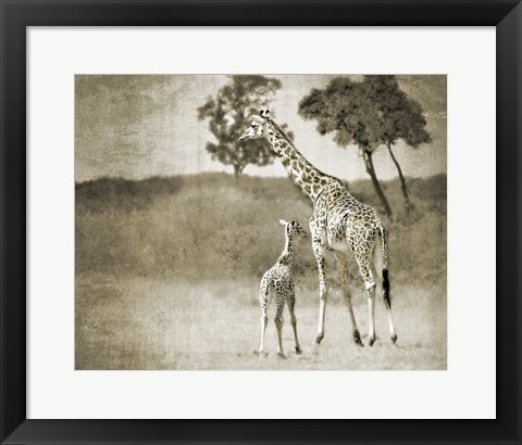 Framed Baby and Mother Print
