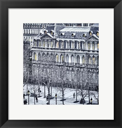 Framed Winter Walk Print