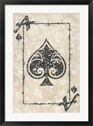 Framed Ace of Spades Print