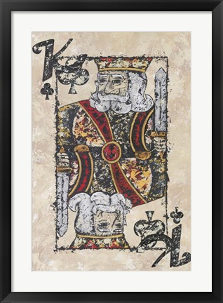 Framed King of Clubs Print