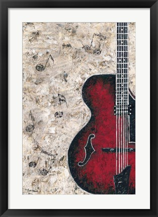 Framed Symphony in Guitar Print