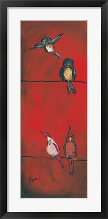 Framed Birds on a Wire - Left Side Print