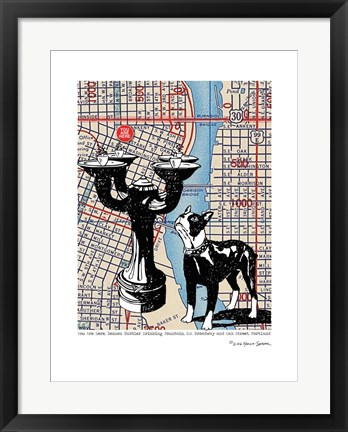 Framed Benson Bubbler Drinking Fountain - Portland Print