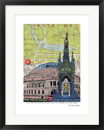 Framed Albert Hall and Memorial Print