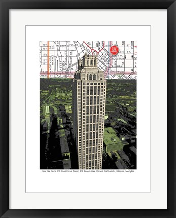 Framed 191 Peachtree Tower Print