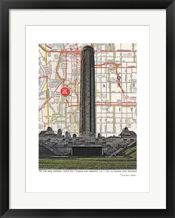 Framed Kansas City Liberty Memorial WWI Museum Print