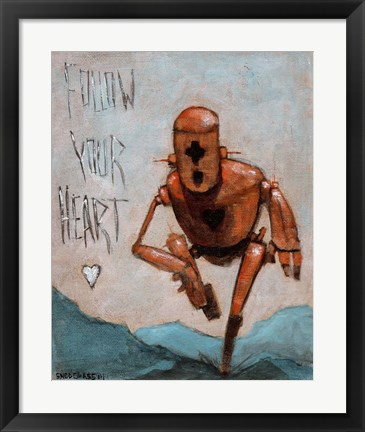 Framed Follow Your Heart Print
