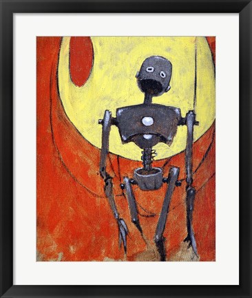 Framed Iron Bot Print