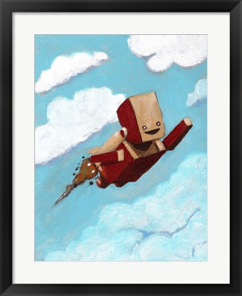 Framed Rocket Bot Print