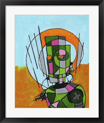 Framed Segmented Man II Print