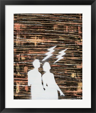 Framed Couple Silhouette Print
