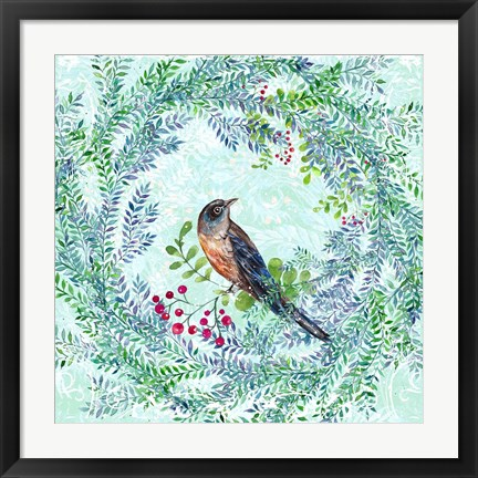Framed Blue Bird Ii Print