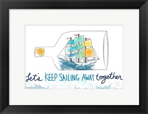 Framed Keep Sailing Print