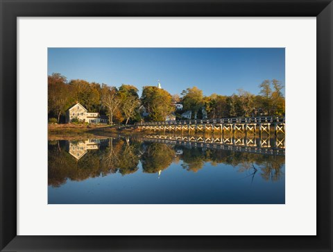 Framed Wellfleet Reflection Print