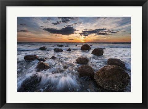 Framed Boulders To The Sun Print