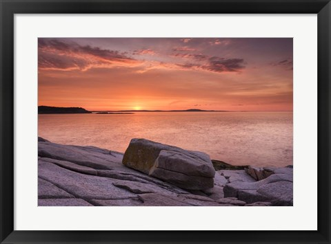 Framed Pink Granite Print