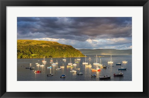 Framed Portree Harbor Print