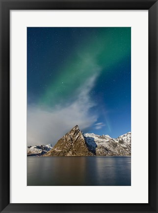 Framed Green Smoke Print