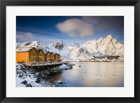 Framed Yellow Cabins Print