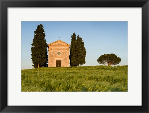Framed Chapel at Vitaleta Print