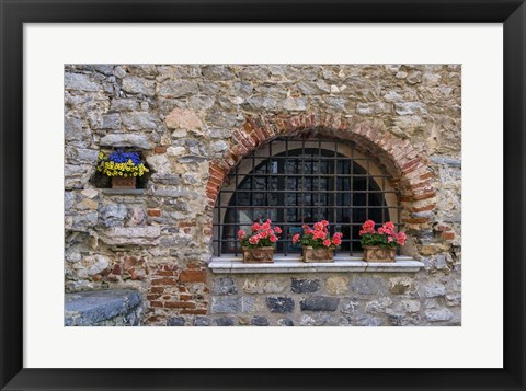 Framed Portovenere Window Print