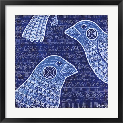 Framed Big Blue Birds Print