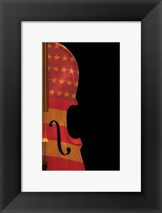 Framed American Fiddle Print