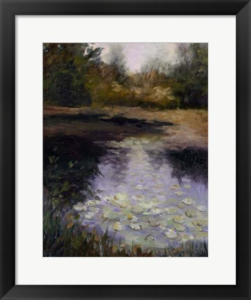 Framed Oregon Water Lilies Print