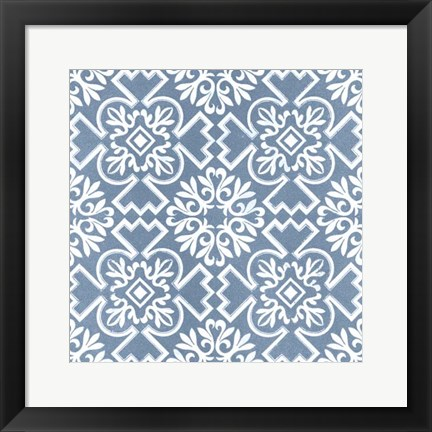 Framed Chambray Tile III Print