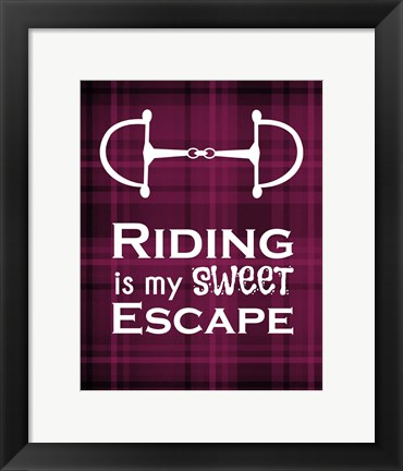 Framed Riding is My Sweet Escape - Red Print