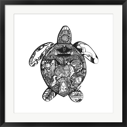 Framed Goodbye Sea Turtle Print