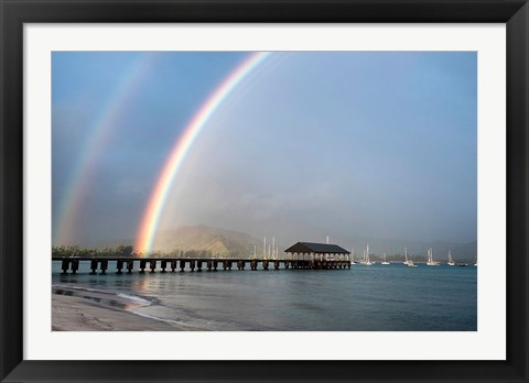 Framed Rainbows at Hanalei Print