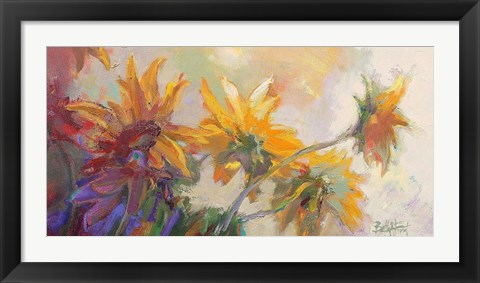 Framed Three Long Blossoms Print