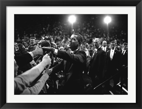 Framed Barack Obama at Campaign Rally Print