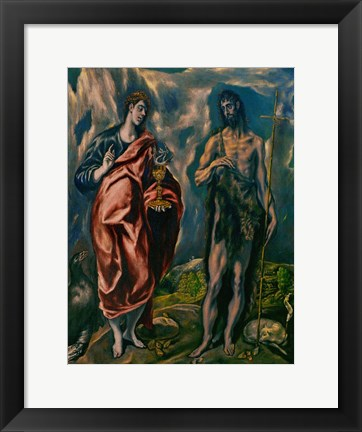 Framed Saints John the Baptist (left) and John the Evanglist (right) Print