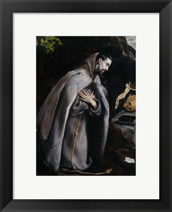 Framed Saint Francis of Assisi Print