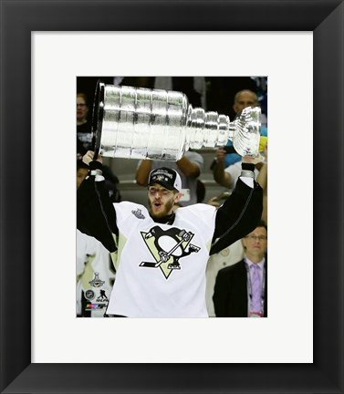 Framed Matt Murray with the Stanley Cup Game 6 of the 2016 Stanley Cup Finals Print