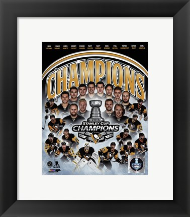 Framed Pittsburgh Penguins 2016 Stanley Cup Champions Composite Print