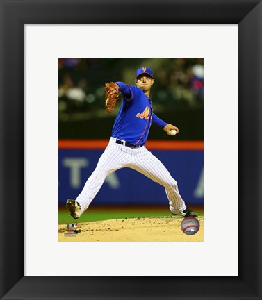 Framed Steven Matz 2016 Action Print