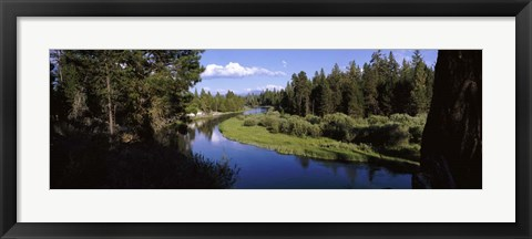 Framed River at Don McGregor Viewpoint, Oregon Print