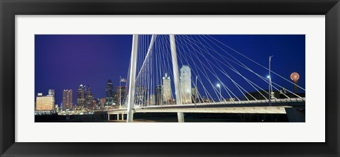 Framed Margaret Hunt Hill Bridge, Dallas, Texas Print