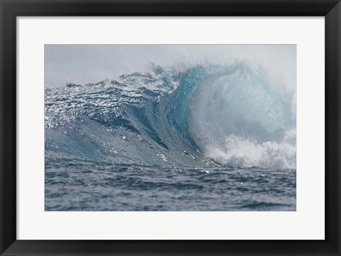 Framed Tahitian Waves I Print