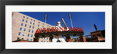 Framed Low angle view of a baseball stadium, Autozone Park, Memphis, Tennessee, USA Print