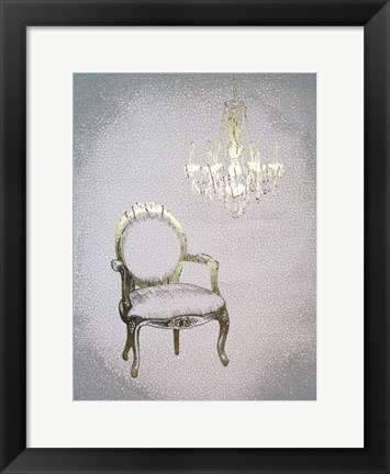 Framed Gilded Furniture II - Metallic Foil Print