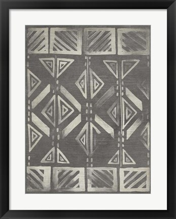 Framed Mudcloth Patterns III Print