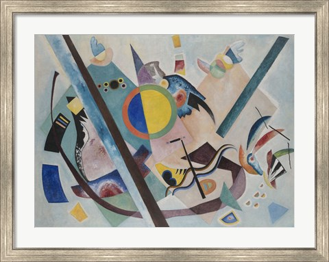 Framed Multicolored Circle, 1921 Print