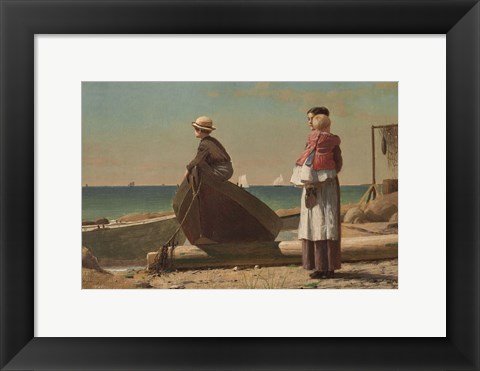 Framed Dad's Coming!, 1873 Print